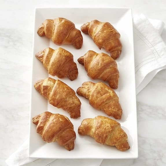 picture of a white platter with 8 Mariposa gluten-free croissants