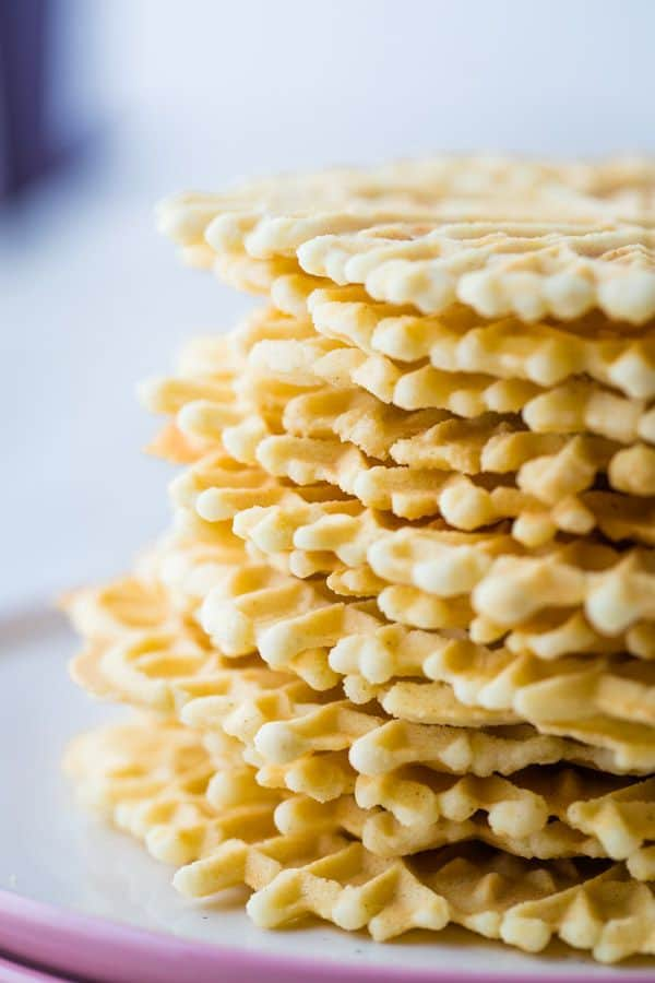 Stack of Baked Pizzelles