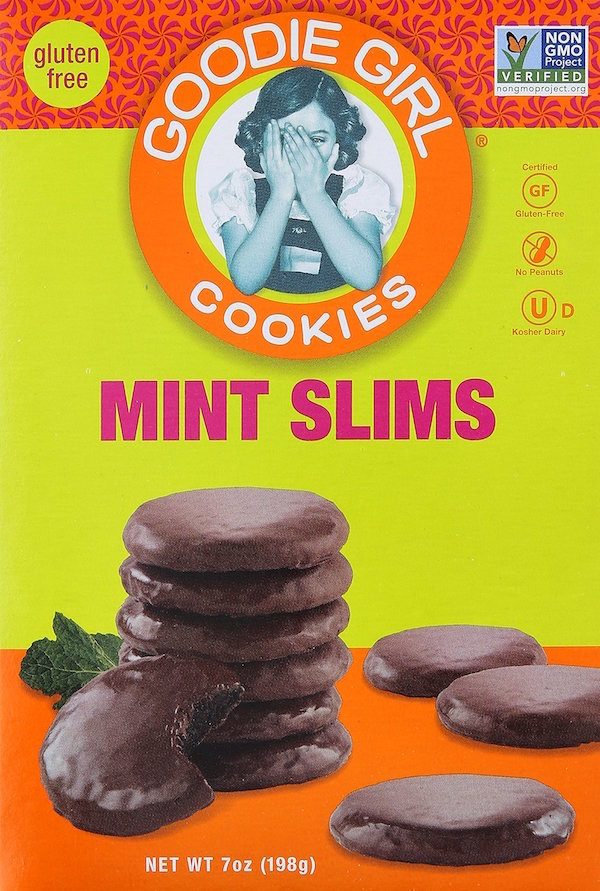 Box of Goodie Girl Gluten-Free Mint Slims