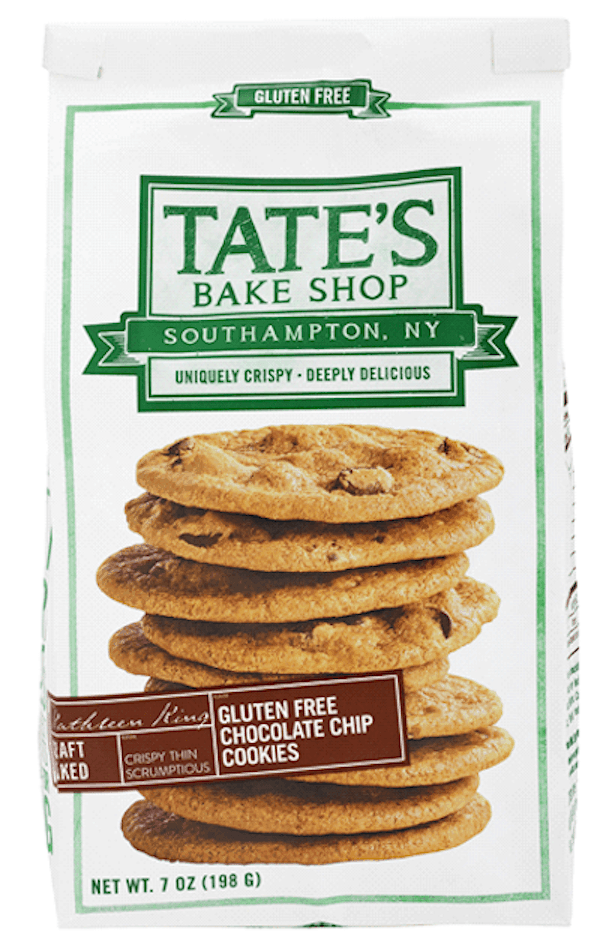 Bag of Tate's Gluten-Free Chocolate Chip Cookies
