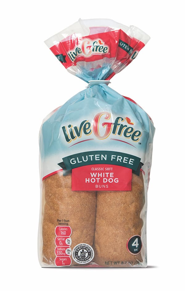 liveGfree Gluten Free Hot Dog Buns
