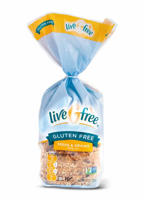 liveGfree Seeds and Grains Bread