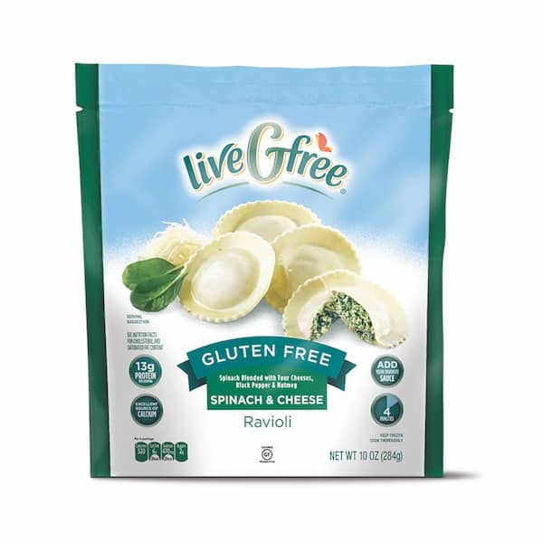 liveGfree Gluten Free Spinach and Cheese Ravioli