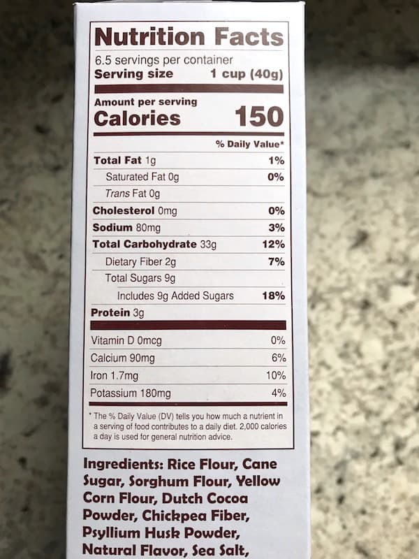 Trader Joe's Cocoa Crunch Cereal Nutrition Facts
