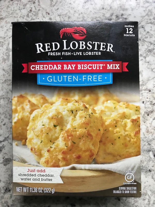 Front of Red Lobster Cheddar Bay Gluten-Free Biscuit Mix Box