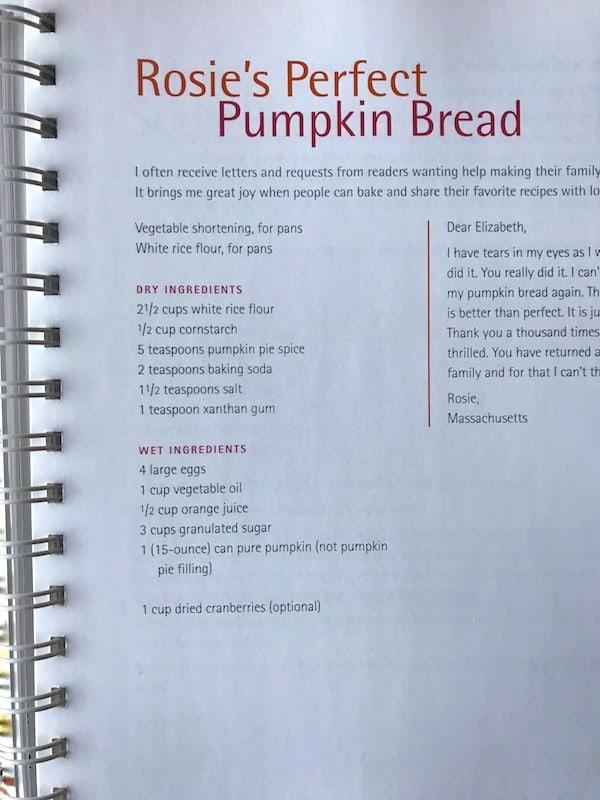 Photo of gluten-free pumpkin bread recipe from Easy Gluten-Free Baking Cookbook