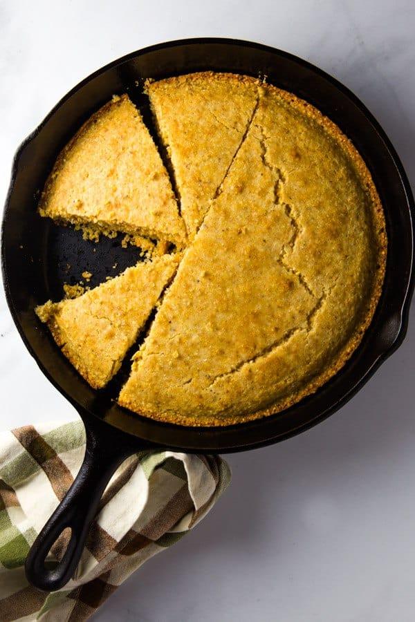 Gluten-Free Cornbread in Cast Iron Skillet