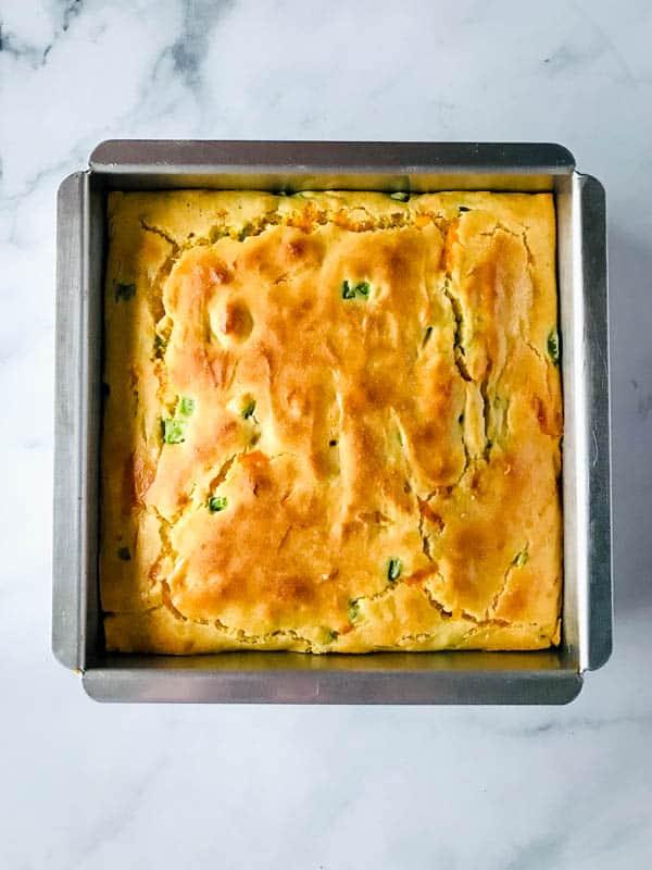 Pan of Baked Gluten-Free Jalapeno Cornbread