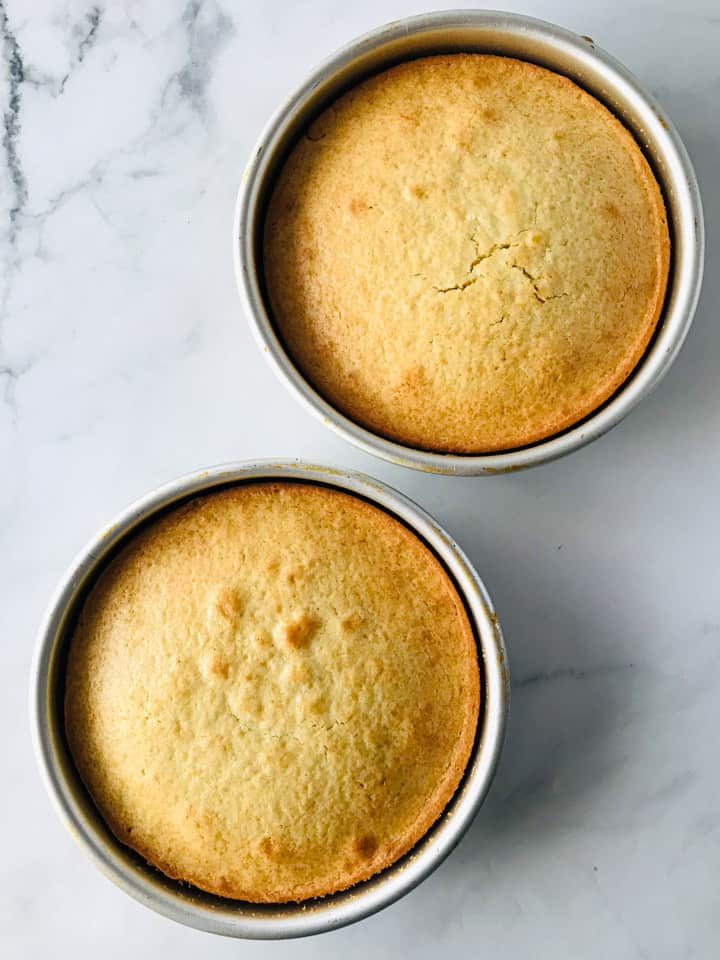 Gluten-Free Yellow Cake: baked in pans