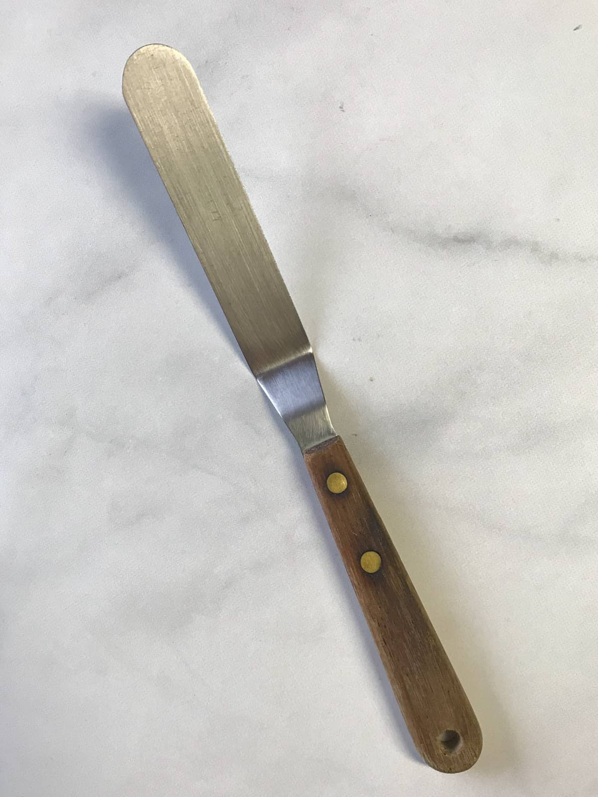Small metal offset spatula